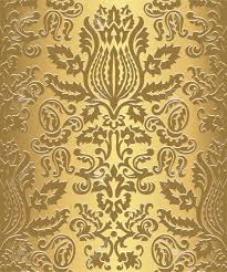 Gold Damask Background Gold Damask Wallpaper Pattern Seamless Pattern Swatch Included