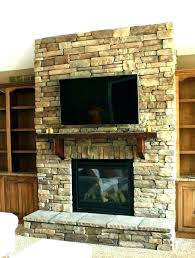 stone tile fireplace surround mantle chic stacked with mantel shelf and natural ti