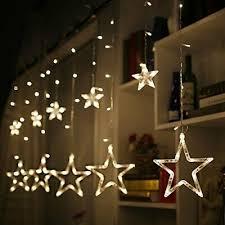 Lichtervorhang Lichterkette Fenster Kugeln Fensterdeko