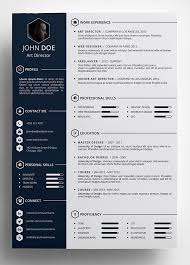 unique resume template free creative resume template in psd format pinteres intended for