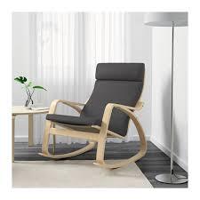 grey rocking pong chair birch veneerfinnsta ikea grey rocking chair40