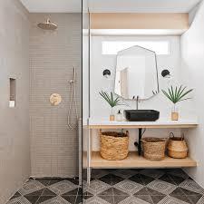 gray and white bathroom decor