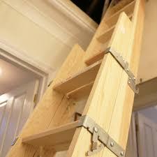 two section sliding timber loft ladder