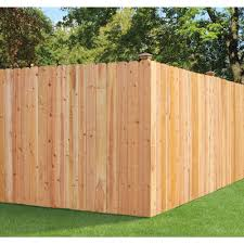 fence construction. cedar dogear picket fence construction e