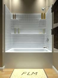tile around tub over shower corner and with regard to combo idea 9