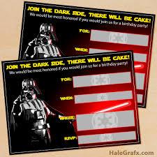 Star Wars Birthday Invitations Printable Free Printable Star Wars Darth Vader Birthday Invitation