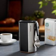 Mocha frappuccino chilled coffee drink is a harmonious blend of starbucks coffee and creamy milk with chocolaty mocha. Starbucks Stainless Steel Coffee Canister A Stainless Steel Coffee Canister With Chalkboard To Record Coffee Names Or Write Messages