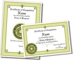 Certificate Of Completeion Certificate Of Completion Templates
