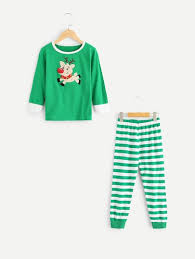 Shein Baby Clothes Size Chart Toddler Boys Cartoon Elk Top Striped Pants