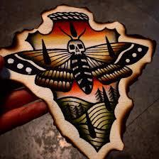 Moth Color Tattoo Flash Traditional Tattoo Traditionalneo