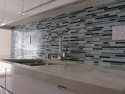 Interior Smoke Glass Subway Tile Modern Kitchen Backsplash