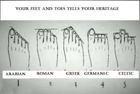 Your Feet And Toes Tell Your Heritage A Nutritional Makeover
