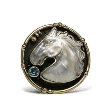 caracol inspired jewelry and handbags mars and valentine abalone horse head ring 160 00