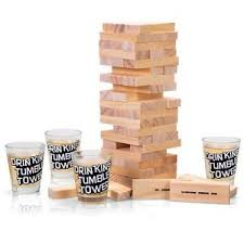 Wooden Bricks Game Drinking Tumble Tower Dare Game Wooden Bricks Stack Party Game 11