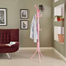 Pink Coat Rack Coat Rack Standing Hat Rack Coat Stand Clothes Bag Umbrella Holder 68