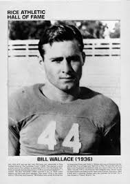 Rice Institute Owls football player Bill Wallace #44