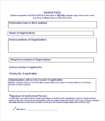 Invoice Form 9 Free Word Pdf Documents Download Free
