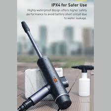 Máy phun tăng áp rửa xe ô tô sử dụng pin sạc Baseus Dual Power Portable  Electric Car Wash Spray Nozzle (0.7MPa, 28.8W) - Máy xịt rửa và phụ kiện