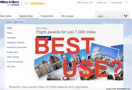 Miles And More Flight Award Chart Using Your Miles The Best Way Case Lufthansa Miles More