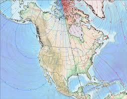 Magnetic Declination Chart North References For Navigating With Map Compass And Gps