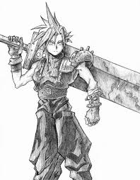 13 Cloud Drawing Final Fantasy For Free Download On Ayoqqorg