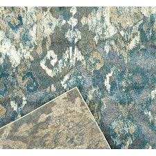 blue and silver oriental rugs rug network amp gold heat set polypropylene networ