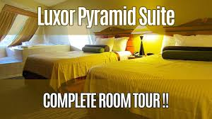 Luxor 2 Bedroom Suite Luxor Pyramid Suite Tour Youtube