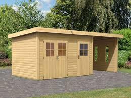 Gartenhaus Holz Flachdach