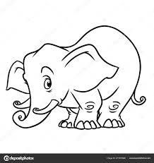 Olifant Dierlijke Karakter Cartoon Geïsoleerde Illustratie