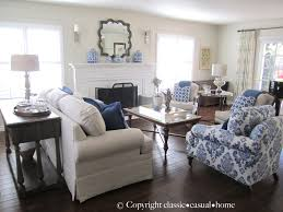 Patterned Chairs Living Room Classic O Casual O Home Blue White And Silver Timeless Design