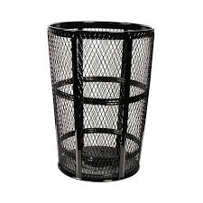 outdoor trash can. Witt EXP-52BK 48-Gallon Outdoor Trash Can W/ See Through Mesh, Black Finish