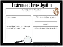 Instrument Investigation Worksheet | Other Files | Everything Else
