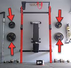 wall mounted weight plate rack diy