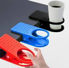 com 5pcs high quality home office drink coffee cup holder cradle clip desk home kitchen