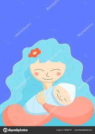 Newborn Congratulation Card Mother Newborn Baby Happy Mother Day Greeting Card Template Cheerful