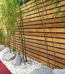Small Picture modern garden landscape privacy fence ideas wood bamboo plants