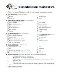Fire Incident Report Template System Outage Failure