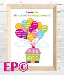 Weiteres Kindergartenzeit Print 30x45 Cm Abschied Ein