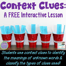 Types Of Context Clues Chart Context Clues A Free Interactive Lesson Upper Elementary