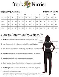 Size Chart York Furrier
