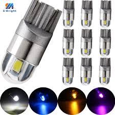 YM E Bright 10PCS 12V <b>T10</b> 3030 2 SMD <b>194 168</b> W5W LED Width ...