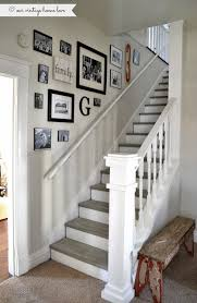 Image Cool Stairway Renovation Pinterest Stairway Renovation New Home Stairway Walls Stair Walls Home Decor