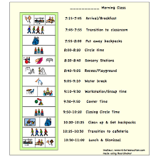Example Of A Visual Schedule Social Skills Autism Autism