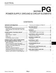 2009 nissan sentra power supply, ground & circuit elements 2009 Nissan Sentra Fuse Box 2009 nissan sentra power supply, ground & circuit elements (section pg) (66 pages) 2009 nissan sentra fuse box diagram