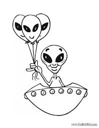Alien In The Spaceship Coloring Pages