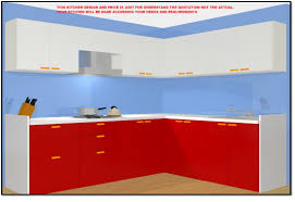 Kitchen Design 7 X 8 10 X 8 50 Off Kitchen Free Chimney 1 Free Furniture Of Your Choice L Shape Fully Modular Laminate Kitchen In Marine Plywood By Bamsv