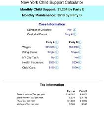 Nys Child Support Payment Chart New York State Child Support Calculations Support