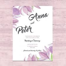 Floral Wedding Card Design Vector Free Download