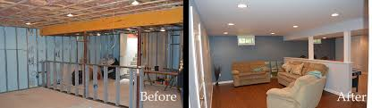 basement remodels before and after. Basement Remodeling Pictures Before And After Elite Renovation Systems :: Remodels M
