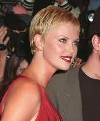 Charlize Theron Short Hair Style charlize theron short pixie haircut with gelled hair 1083 by wearticles.com